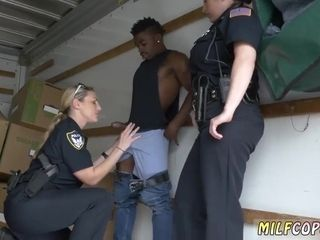 Harsh gal cops plumb dark-hued thug