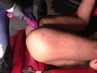 Pegging Throatfuck female dominance raunchy hookup anal invasion domme Julie Simone