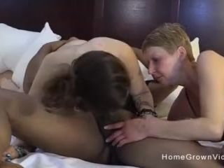 Hot blonde mom shares her boyfriends big black cock