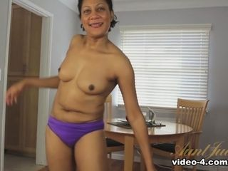 Carmen in getting off video - AuntJudys