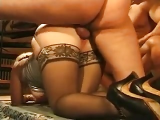 BBW Mature anal couple