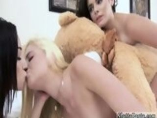 Lesbian giant strapon and step mom caught playfellow pal s daughter Bear Necessities