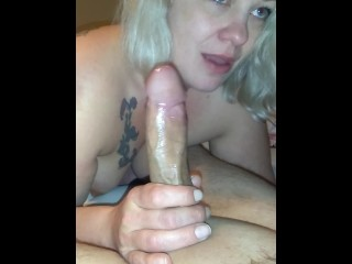 Wifey attempting to deep-throat
