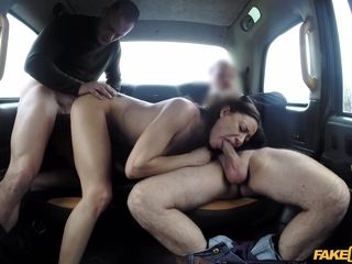 A insatiable wifey Cassie luvs three way fucky-fucky in cab. 2 fuck-sticks are nicer than one.