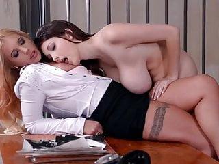 2 European lesbians with big tits