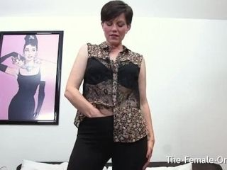 'Mature MILF with Flappy Pussy Lips Masturbate to Two Contracting Orgasms'