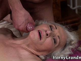 Grannies unshaved puss tasted