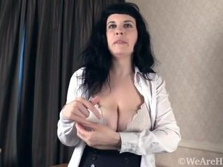Soledad strips naked to play after some work - Compilation - WeAreHairy