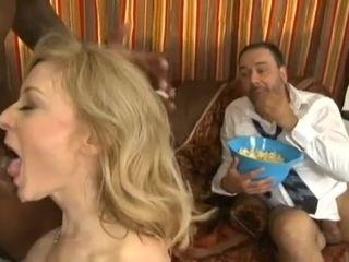 Nina Hartley Interracial Cuckold Sex Scene