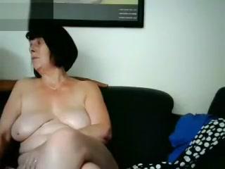 Unexperienced monstrous breasts grannie Webcamera display