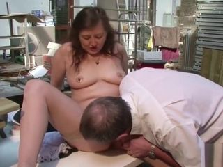 German Mature in stocking lure to boink by Stranger