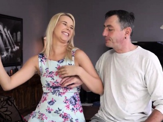 DADDY4K. Mature stud adorably bangs youthfull blond with...