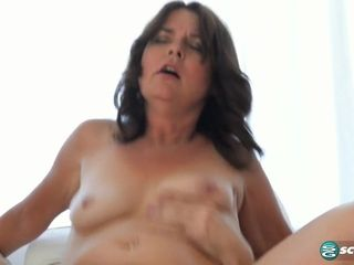Kelly Scott's first time...she has a very hairy pussy! - 50PlusMilfs