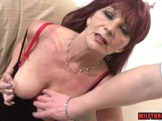 Milf With ample bra-stuffers point of view intercourse