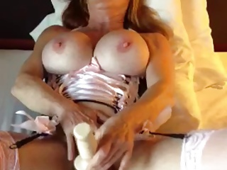 Mature Woman With Big Tits Pleasures Herself