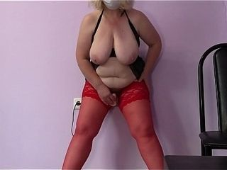 Mature cougar with hefty boobs and with a fat backside again cheats on her spouse in front of the cam. Hump fucktoys in rectal and wooly labia.