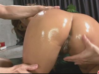 'Sexy oiled up babe in a hot and sensual threeso - More at Japanesemamas com'