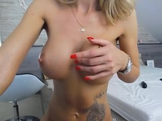 Lonely female frolicking with her boobies