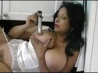 Danica in White with Dildo