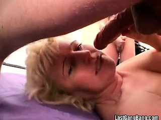 Horny blonde slut banged hardly