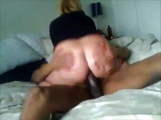 Horny Mature wife with nice ass riding her young black lover