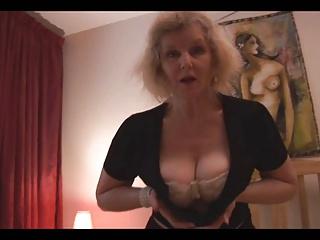 horny big tit mature tease