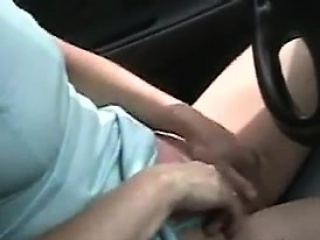 Mature Pussy Being Played With In The Car