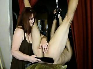 Femdom mistress enjoying a huge dick that is hopeless