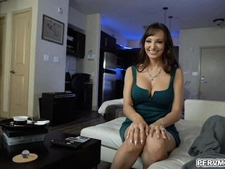 Bday oral pleasure from big-titted cougar step-mother Lexi Luna
