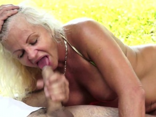 Busty gilf buttfucked and facialized