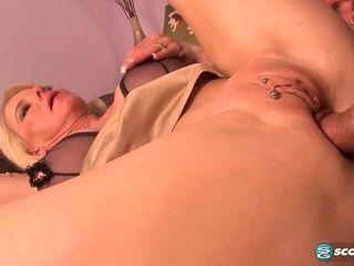 Big tits? Check. Piercings? Check. Gaping pussy? Check! - 50PlusMilfs