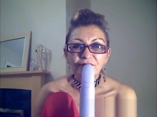 Super-naughty grandmother strokes on webcam for me