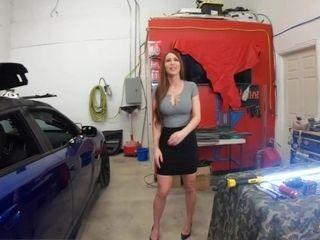 'Roadside - Sexy Brianna Rose Bounces On Mechanics Dick'