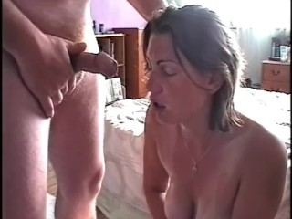 Wife Loves Spunk On Her Face Some Much It Makes Her Cum
