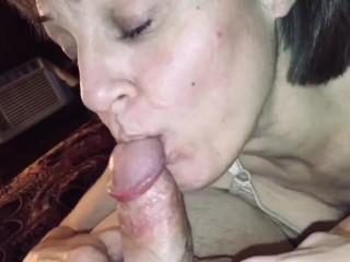 Mature Milf love's sucking cock dry