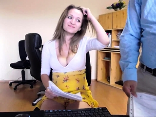 Gorgeous web cam brown-haired with massive bumpers