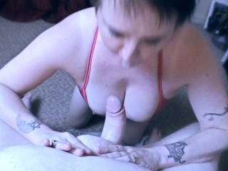 Immense funbags mummy luvs to Give grubby Deep jaws oral pleasure and Titfuck