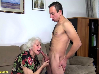 Lush fur covered aged mommy harsh penetrated