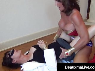 Costume play milf Deauxma ejaculations With sinister Mature Dr. Focker!