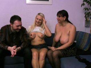 Molten handsome with handsome nymphette and buxom mummy