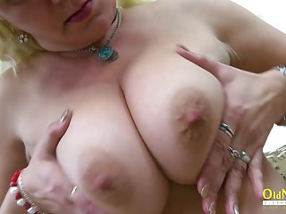 OldNannY Hot Milf identity card will not hear of Pussy positively amply