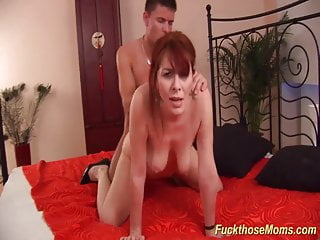 Red-haired wooly mature raunchy drilled