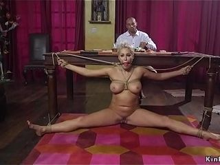 Wifey lures hubby for restrain bondage hookup