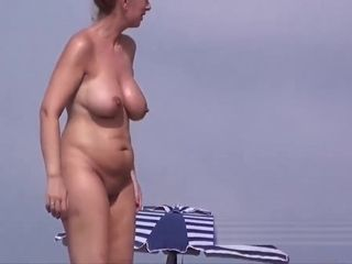 Tidy bald twat unexperienced naturist mummies Beach hidden cam SpyCam