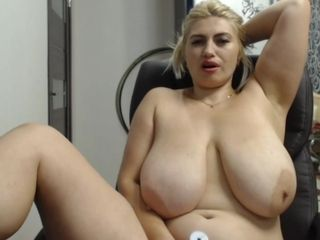 Highly fat housewife with immense sagging orbs - web cam showcase