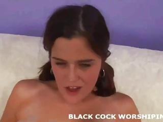 Watch me riding my first big black cock