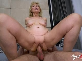 AgedLovE grannie luvs Attention of kinky stud