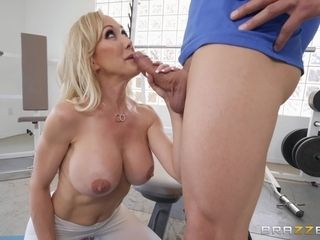 Insatiable mature penetrated thru the fuck hole in her instructing trousers