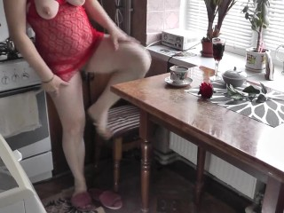 Strong orgasm hairy pussy . Big natural tits MILF. DuBarry four years later