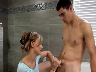 Step-mother Helps Her Not sonny With douche hidden cam